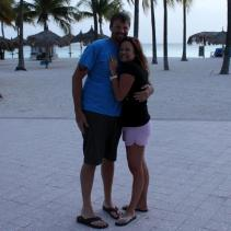 Jake and I - in Aruba - for our wedding!