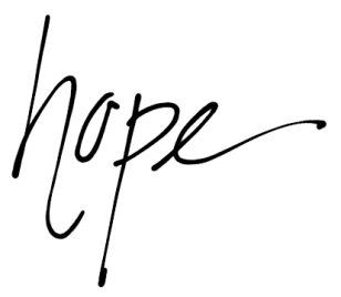 hope cursive