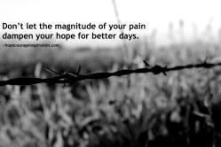 Don't let pain dampen hope image