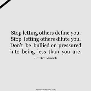 don't be bullied