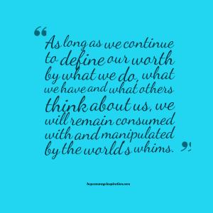 define our worth