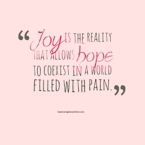 joy is the reality
