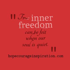 true inner freedom