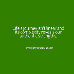 life's journey isn't linear-edh