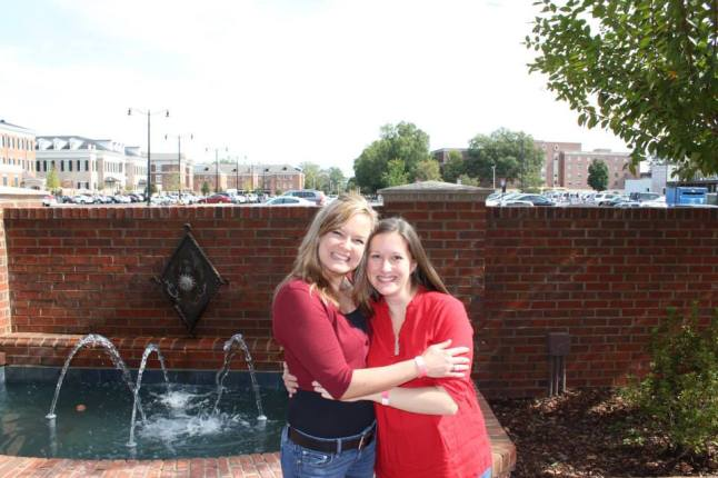 Amanda and I on the University of Alabama Campus, Fall 2013